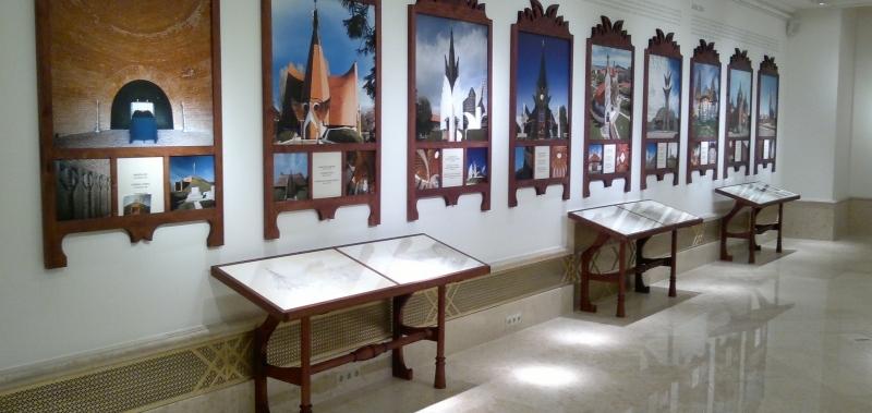 Makovecz Imre kiállítás installáció